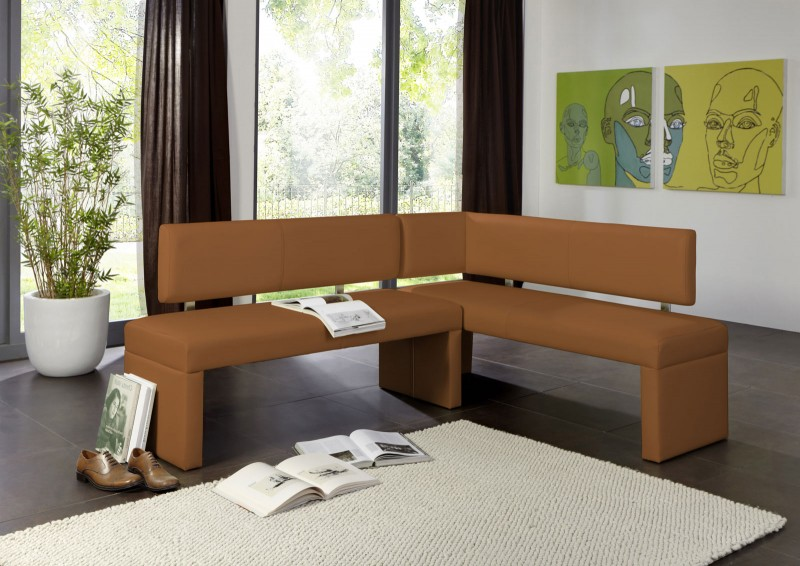 sam esszimmer eckbank recyceltes leder sono 180 x 130 cm cappuccino. Black Bedroom Furniture Sets. Home Design Ideas