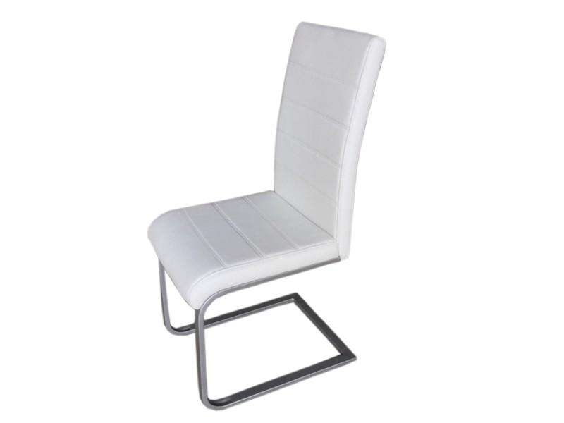 sam freischwinger stuhl in wei metall piet 30 4er set demn chst. Black Bedroom Furniture Sets. Home Design Ideas