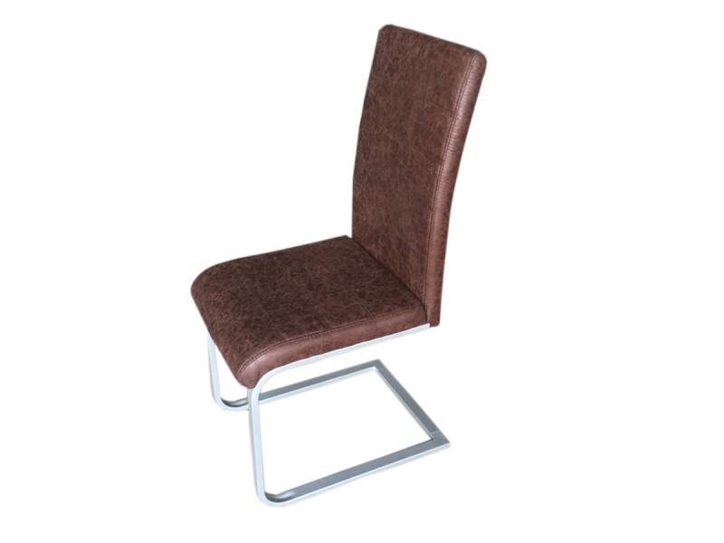 Sam freischwinger stuhl in wildleder metall piet 30 2er for Design stuhl freischwinger piet 30