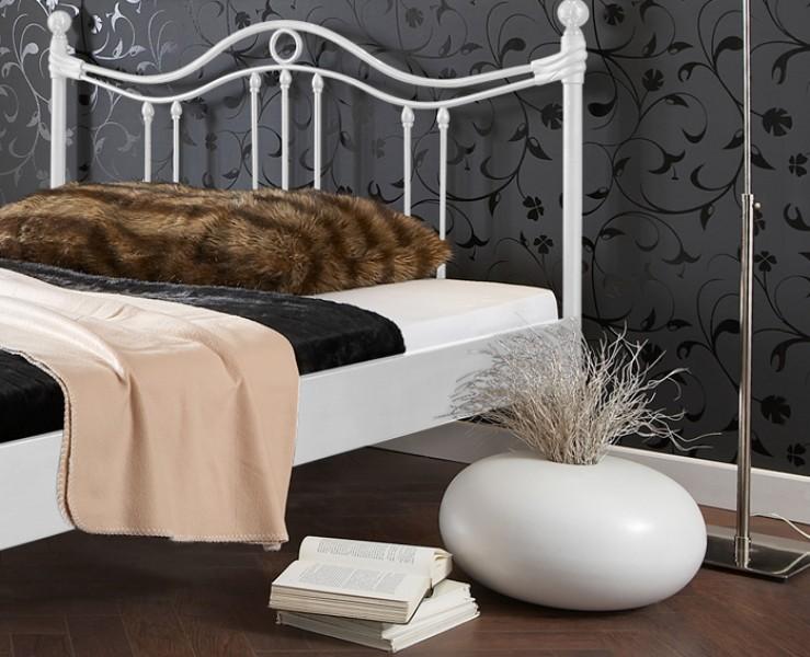sam metallbett wei 140 x 200 cm kea g nstig. Black Bedroom Furniture Sets. Home Design Ideas