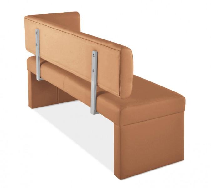 sam ottomane recyceltes leder 130 cm lasander cappuccino. Black Bedroom Furniture Sets. Home Design Ideas