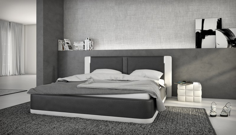 sam polsterbett 180 x 200 cm soundsystem schwarz wei rayanda. Black Bedroom Furniture Sets. Home Design Ideas