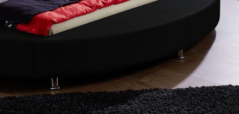 sam rundbett 180 x 200 cm beleuchtung schwarz classico demn chst. Black Bedroom Furniture Sets. Home Design Ideas