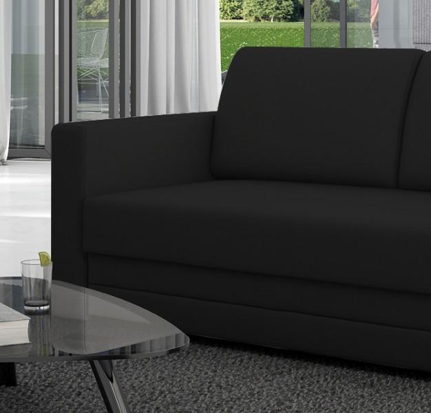 sam schlafsofa schwarz sofa carmelita 150 cm. Black Bedroom Furniture Sets. Home Design Ideas