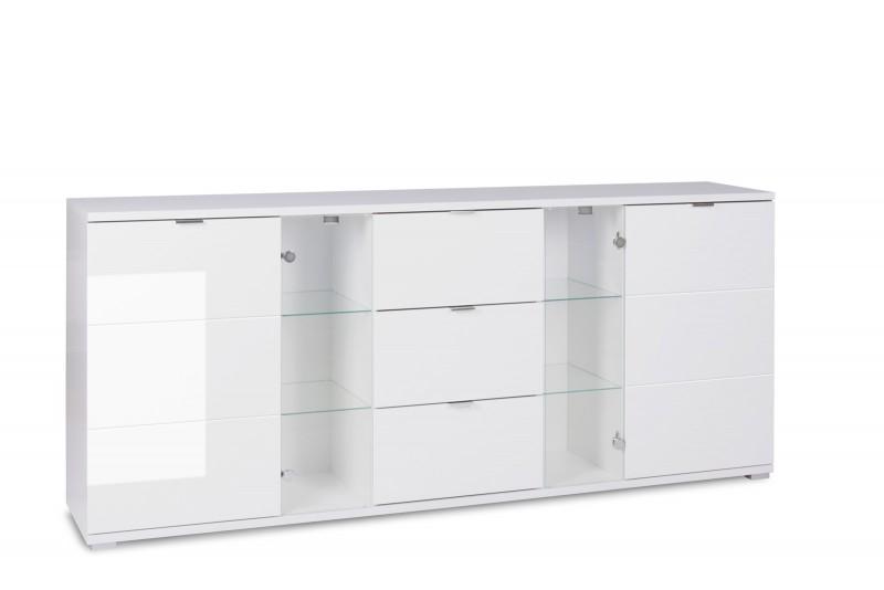 sam sideboard holz 200 x 85 cm glossy 4 g nstig. Black Bedroom Furniture Sets. Home Design Ideas