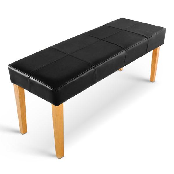 sam sitzbank 110 cm recyceltes leder schwarz buche enzio. Black Bedroom Furniture Sets. Home Design Ideas