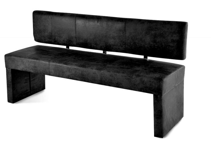 sam sitzbank 180 cm graue wildleder optik stella. Black Bedroom Furniture Sets. Home Design Ideas