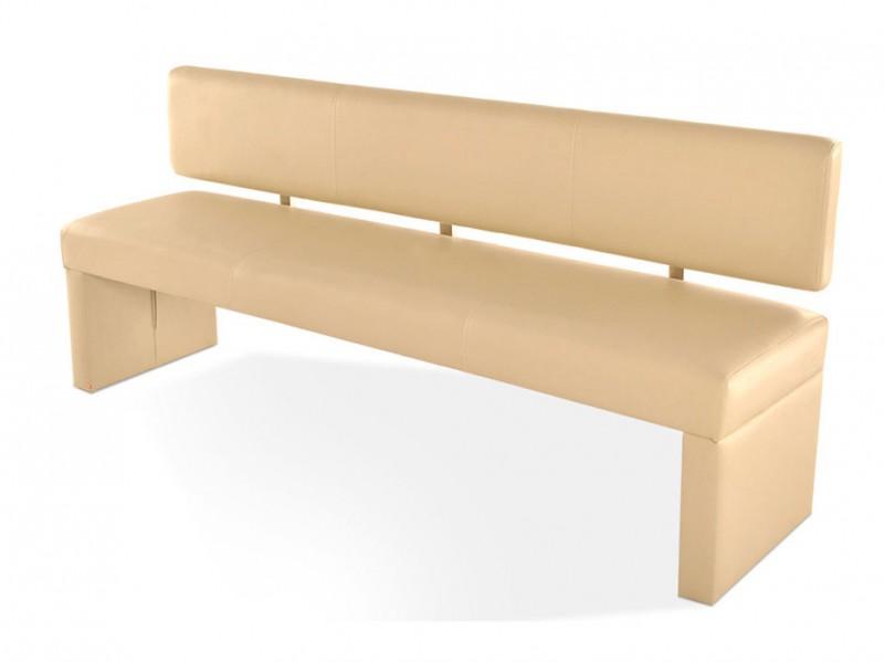 sam sitzbank 200 cm creme recyceltes leder sandra. Black Bedroom Furniture Sets. Home Design Ideas