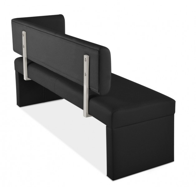 sam sitzbank ottomane recyceltes leder 150 cm grau sabatina demn chst. Black Bedroom Furniture Sets. Home Design Ideas