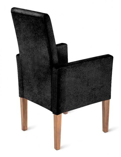 sam stoff stuhl wildlederoptik grau gr ulich arabella. Black Bedroom Furniture Sets. Home Design Ideas