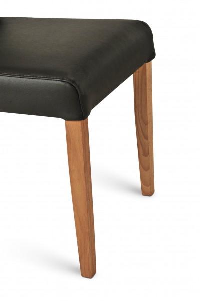 sam stuhl echtleder schwarz eiche dickes leder bj rn. Black Bedroom Furniture Sets. Home Design Ideas