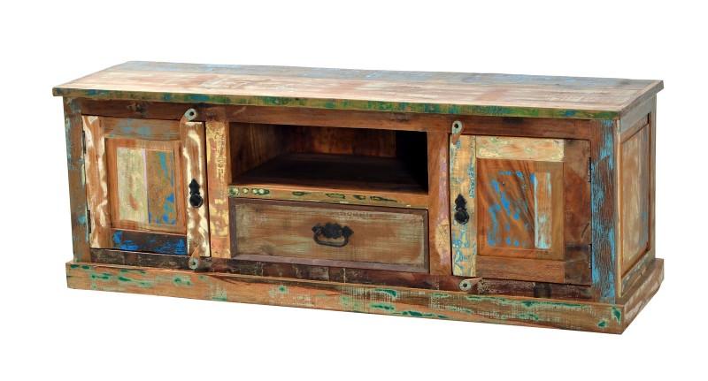 sam tv schrank altholz bunt lackiert 140 cm riverboat. Black Bedroom Furniture Sets. Home Design Ideas