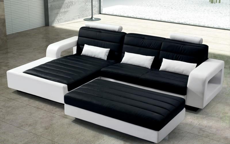 SAM® Wohnzimmer Design Hocker 153 cm schwarz weiß New York Auf Lager ...