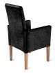 sale esszimmerstuhl armlehnstuhl grau stoff wildlederoptik arabella. Black Bedroom Furniture Sets. Home Design Ideas