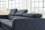 SALE Sofa Couch Ecksofa anthrazit Ottomane links 300 x 132 cm  Dario Auf Lager !