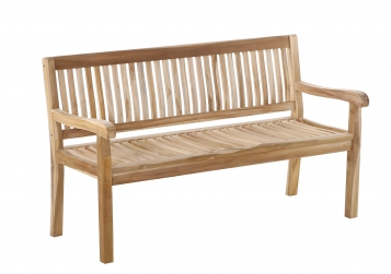 SAM® Gartenbank Teak 150 cm 3 Sitzer KINGSBURY