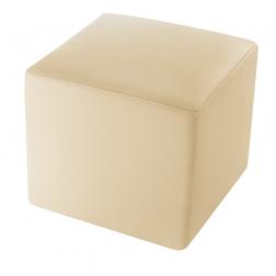 SAM® Sitzwürfel Cube XL 45 x 45 cm recyceltes Leder in creme LONDON Auf Lager !