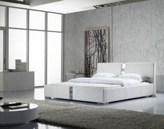 SALE Doppelbett Polsterbett 180 x 200 cm in weiß VINCENT Auf Lager !