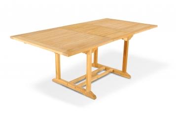 Gartentisch ausziehbar 150 - 200 cm Teakholz CARACAS Auf Lager !