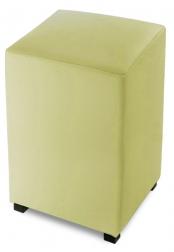 SAM® Sitzwürfel Cube 35 x 35 cm recyceltes Leder lemon green YORK Auf Lager !