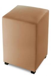 SAM® Sitzwürfel Cube 35 x 35 cm recyceltes Leder cappuccino YORK Auf Lager !