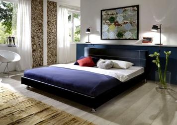 SAM® Design Polsterbett 180 x 200 cm schwarz TRACONTE