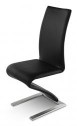 SAM® Freischwinger Stuhl recyceltes Leder schwarz ROMEO Auf Lager !