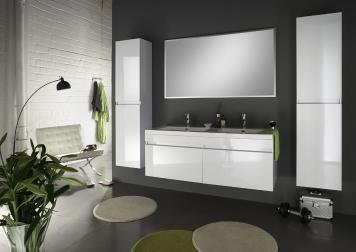 SAM® Badmöbel Set 4tlg Doppelwaschtisch 140 cm weiß Parma Demnächst !