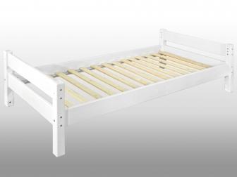 SAM® Einzelbett der Kinderbettenserie Massivholz weiß Kiefernholz