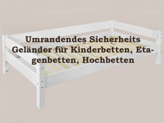 SAM® Sicherheits Umrandung Geländer für Kinderbett weiß Kiefer