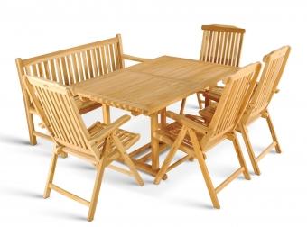 SAM® Gartenmöbel Teak Set 6tlg. Gartentisch 180 - 240 cm KA Auf Lager !
