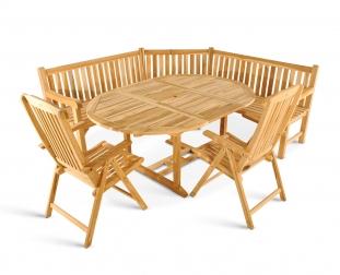SAM® Teak Gartenmöbel Set 4tlg. Eckbank Garten Tisch 120-170 cm BA