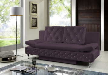 Sam design schlafsofa abgesteppt lila roxy 200 cm for Jugendzimmer umstellen