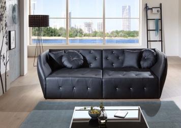 SAM® Design Sofa schwarz Couch Shel