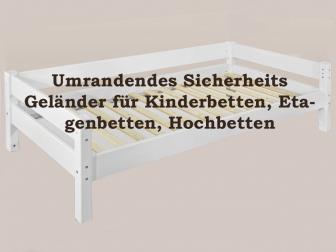 SAM® Sicherheits Umrandung Geländer für Kinderbett weiß Buche