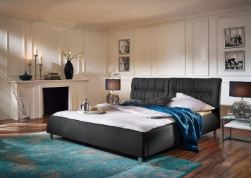 sam design bett 180 x 200 cm anthrazit mia auf lager. Black Bedroom Furniture Sets. Home Design Ideas