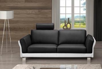 SAM® Design Sofa Garnitur 3 - Sitzer schwarz weiß NEGRO