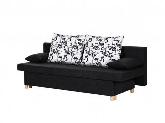 Sam sofa schlafsofa couch 193 cm schwarz stoff willy auf for Jugendzimmer umstellen