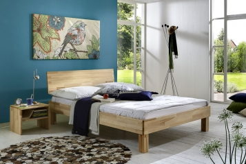 sam massivholzbett doppelbett 180 x 200 cm kernbuche bahar auf lager. Black Bedroom Furniture Sets. Home Design Ideas
