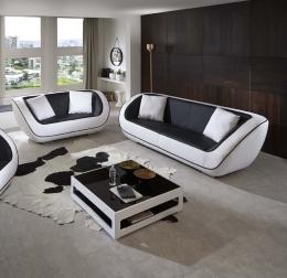 SAM® Couch Sofa 3er Sitzer in schwarz weiß Navarra