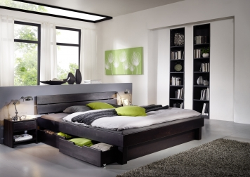 sam massivholzbett 160 x200cm geteilt wenge bettk sten campino auf lager. Black Bedroom Furniture Sets. Home Design Ideas