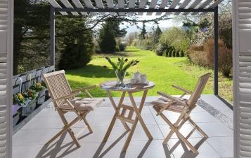 SAM® Balkonmöbel Set 3tlg Tisch 70 x 70 cm Armlehnstühle ROMANA Demnächst !