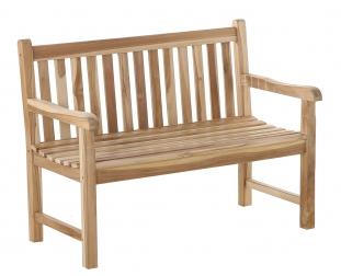 SAM® Gartenbank Teak-Holz 120 cm 2 Sitzer JAVA Auf Lager !