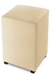 SAM® Sitzwürfel Cube 35 x 35 cm recyceltes Leder creme YORK Auf Lager !