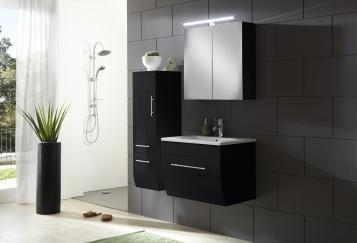 sam badezimmerm bel zagona 3tlg schwarz hochglanz 70 cm auf lager. Black Bedroom Furniture Sets. Home Design Ideas