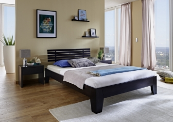 sam massivholzbett g nstig 180 x 200 cm buche massiv wenge bigoli auf lager. Black Bedroom Furniture Sets. Home Design Ideas