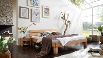 sam massivholzbett doppelbett in kernbuche ge lt 200 x 200 cm julia auf lager. Black Bedroom Furniture Sets. Home Design Ideas