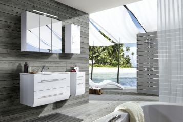 sam badezimmerm bel zagona 4lg wei hochglanz 90 cm. Black Bedroom Furniture Sets. Home Design Ideas