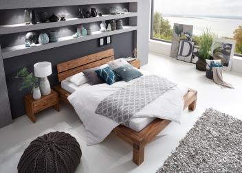 sam balkenbett massivholz 200 x 200 cm akazie david demn chst. Black Bedroom Furniture Sets. Home Design Ideas