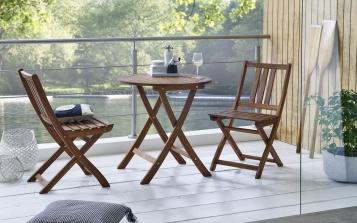 SAM® Balkonmöbel Akazie Tisch rund 65 cm SILKEBORG/FARSO Auf Lager !